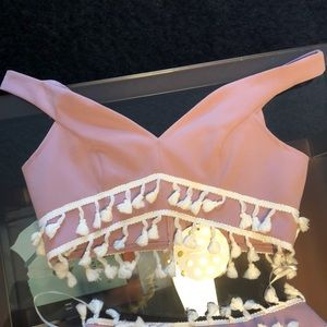 Sabo Skirt Other - Sabo Skirt 2 piece mauve fringe set new with tags